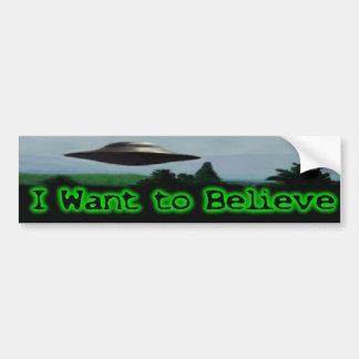 Je veux croire autocollant de voiture