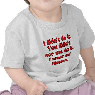 Je veux mon nonna (la grand-mère italienne) t-shirts