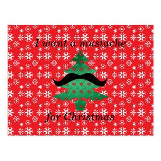 Je veux une moustache pour Noël Cartes Postales
