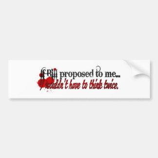Je vous épouserai Bill Autocollant De Voiture
