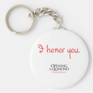 Je vous honore porte - clé porte-clé rond