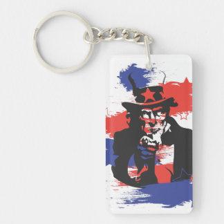 Je vous veux porte-clé  rectangulaire en acrylique une face
