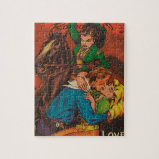 Jealous Cowgirl Jigsaw Puzzle