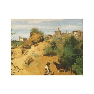 Jean-Baptiste-Camille Corot - Genzano Canvas Print