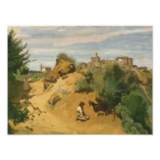 Jean-Baptiste-Camille Corot - Genzano Photo Print