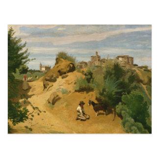 Jean-Baptiste-Camille Corot - Genzano Postcard