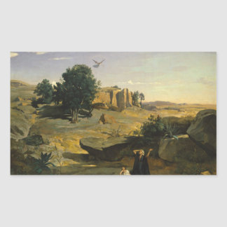 Jean-Baptiste-Camille Corot - Hagar Sticker