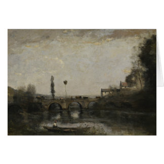 Jean-Baptiste-Camille Corot -Landscape with Bridge Card
