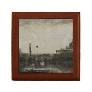 Jean-Baptiste-Camille Corot -Landscape with Bridge Jewelry Boxes