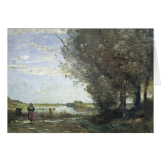 Jean-Baptiste-Camille Corot - River View Card
