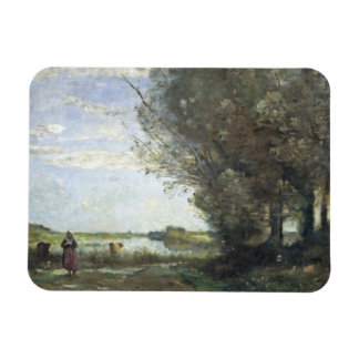 Jean-Baptiste-Camille Corot - River View Magnet