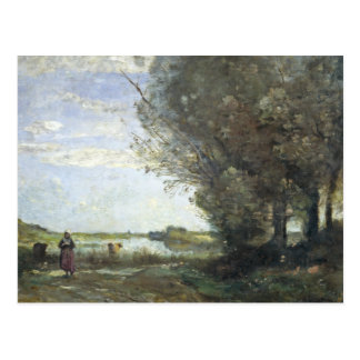 Jean-Baptiste-Camille Corot - River View Postcard