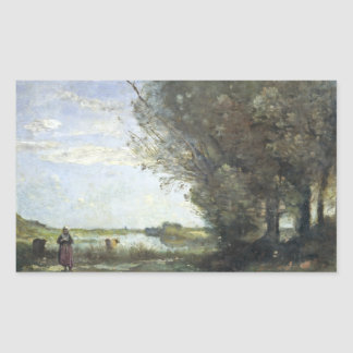 Jean-Baptiste-Camille Corot - River View Sticker