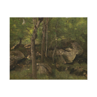 Jean-Baptiste-Camille Corot - Rocks in the Forest Canvas Print