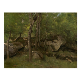 Jean-Baptiste-Camille Corot - Rocks in the Forest Postcard