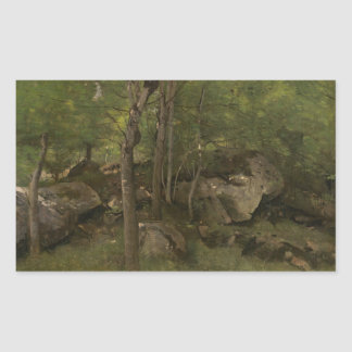 Jean-Baptiste-Camille Corot - Rocks in the Forest Sticker