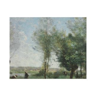 Jean-Baptiste-Camille Corot - Souvenir of Coubron Canvas Print