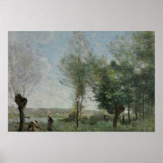 Jean-Baptiste-Camille Corot - Souvenir of Coubron Poster