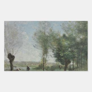 Jean-Baptiste-Camille Corot - Souvenir of Coubron Sticker