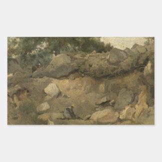 Jean-Baptiste-Camille Corot - Stone Mine Sticker