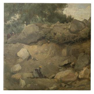 Jean-Baptiste-Camille Corot - Stone Mine Tile