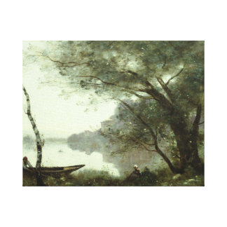 Jean-Baptiste-Camille Corot - The Boatman Canvas Print