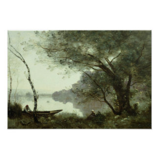 Jean-Baptiste-Camille Corot - The Boatman Poster