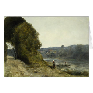 Jean-Baptiste-Camille Corot - The Departure Card