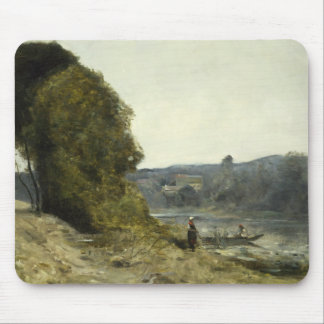 Jean-Baptiste-Camille Corot - The Departure Mouse Pad