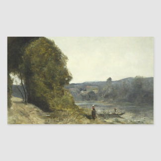 Jean-Baptiste-Camille Corot - The Departure Sticker