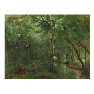 Jean-Baptiste-Camille Corot - The Eel Gatherers Postcard