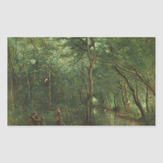 Jean-Baptiste-Camille Corot - The Eel Gatherers Sticker