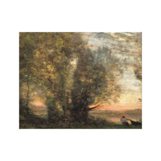 Jean-Baptiste-Camille Corot - The Fisherman Canvas Print