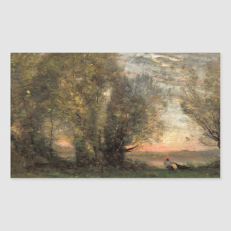 Jean-Baptiste-Camille Corot - The Fisherman Sticker