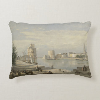 Jean-Baptiste-Camille Corot - The Harbor Accent Pillow