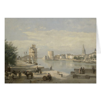 Jean-Baptiste-Camille Corot - The Harbor Card