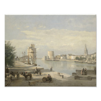 Jean-Baptiste-Camille Corot - The Harbor Photo Print