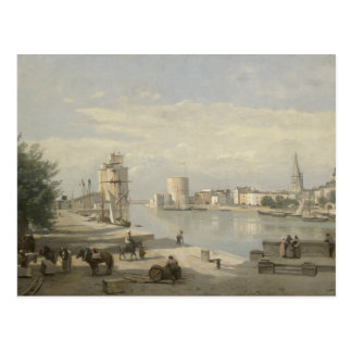 Jean-Baptiste-Camille Corot - The Harbor Postcard