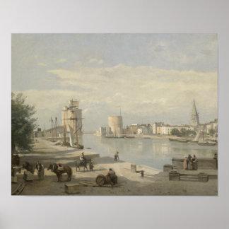 Jean-Baptiste-Camille Corot - The Harbor Poster
