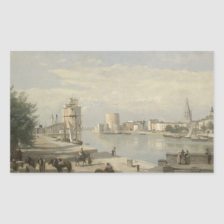 Jean-Baptiste-Camille Corot - The Harbor Sticker