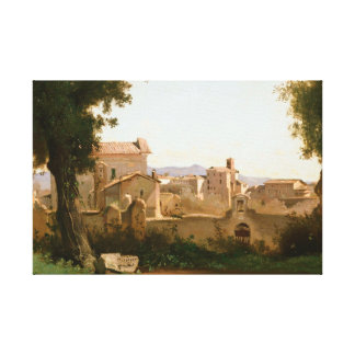Jean-Baptiste-Camille Corot -View from the Farnese Canvas Print