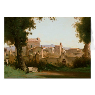 Jean-Baptiste-Camille Corot -View from the Farnese Card