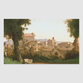 Jean-Baptiste-Camille Corot -View from the Farnese Sticker