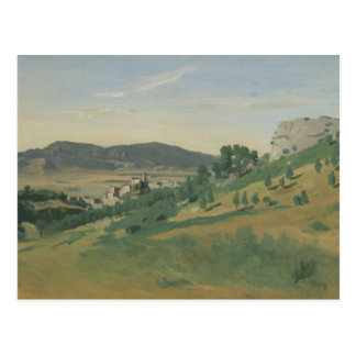 Jean-Baptiste-Camille Corot - View of Olevano Postcard