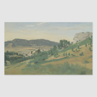 Jean-Baptiste-Camille Corot - View of Olevano Sticker