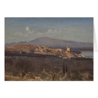 Jean-Baptiste-Camille Corot-Villeneuve-les-Avignon Card