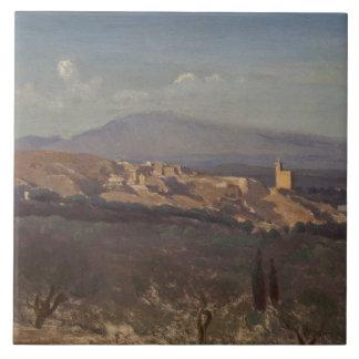Jean-Baptiste-Camille Corot-Villeneuve-les-Avignon Ceramic Tiles