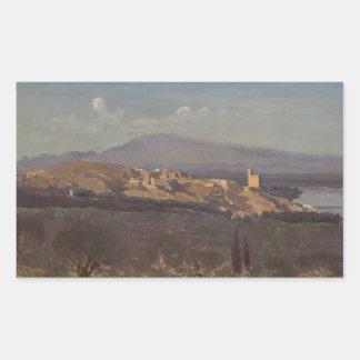 Jean-Baptiste-Camille Corot-Villeneuve-les-Avignon Sticker