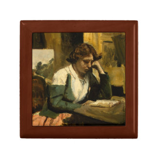 Jean-Baptiste-Camille Corot - Young Girl Reading Gift Box