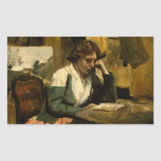 Jean-Baptiste-Camille Corot - Young Girl Reading Sticker